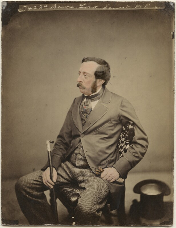 Ernest Augustus Charles Brudenell-Bruce, 3rd Marquess of Ailesbury, by Maull & Polyblank, 10 April 1860 - NPG x45073 - © National Portrait Gallery, London