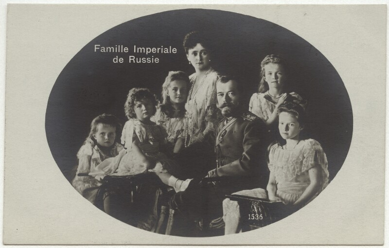 Tsar Nicholas II and Tsarina Alexandra with their children, by Unknown photographer, 1906 - NPG x45126 - © National Portrait Gallery, London