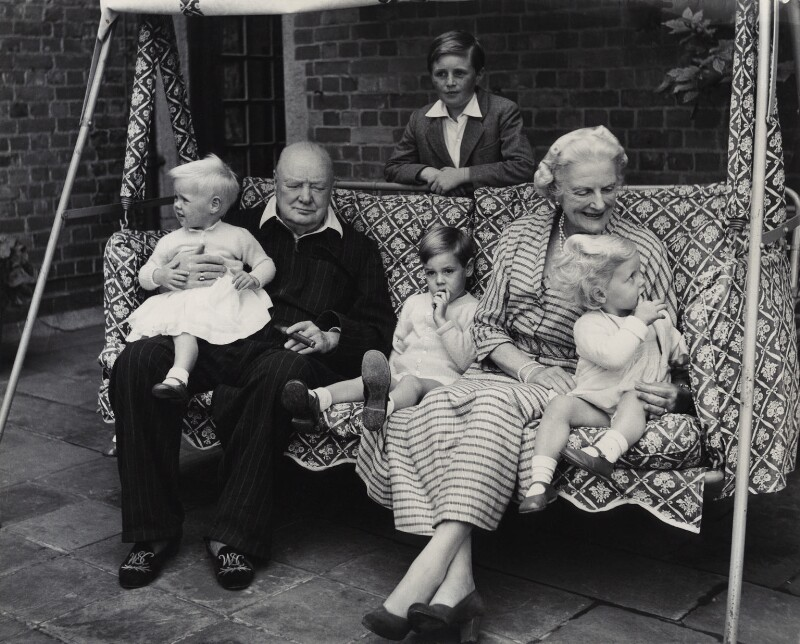 The Churchill family, by Vivienne, September 1951 - NPG x45180 - © reserved; collection National Portrait Gallery, London