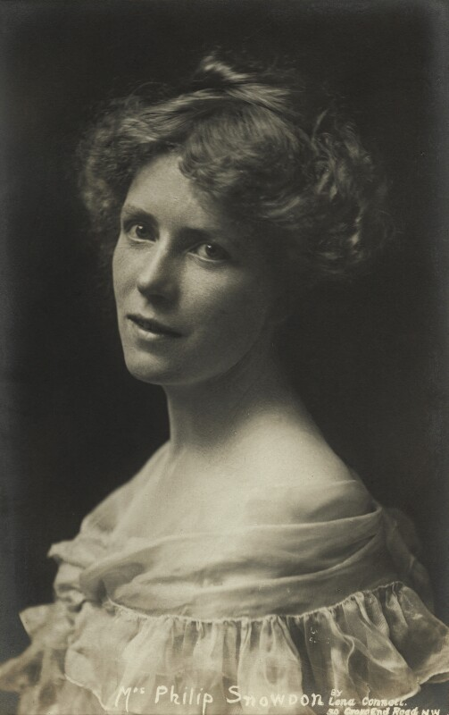 Ethel Snowden (née Annakin), Viscountess Snowden, by Lena Connell (later Beatrice Cundy), late 1910s - NPG x45188 - © reserved; collection National Portrait Gallery, London