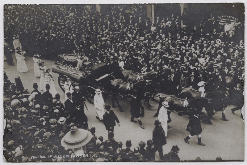 Procession of Emily Davison's funeral, by F. Kehrhahn & Co, June 1913 - NPG x45196 - © National Portrait Gallery, London