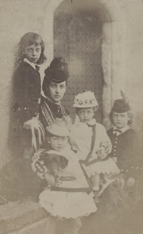 Alexandra of Denmark with her children, by Unknown photographer, circa 1869 - NPG x45222 - © National Portrait Gallery, London