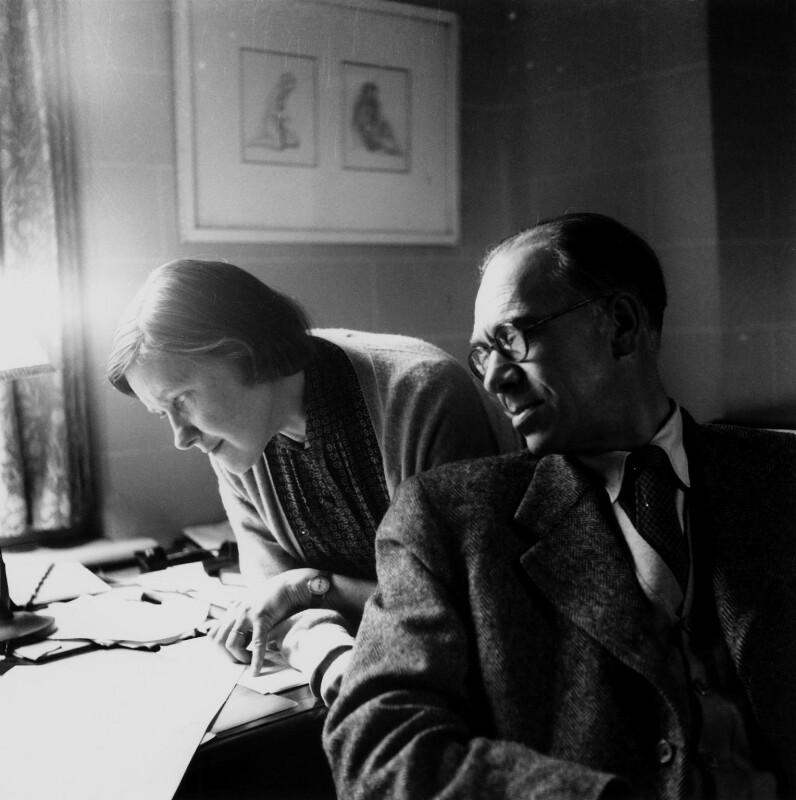 Olive Alwyn (née Pull); William Alwyn, by Lida Moser, 1953 - NPG x45308 - © National Portrait Gallery, London