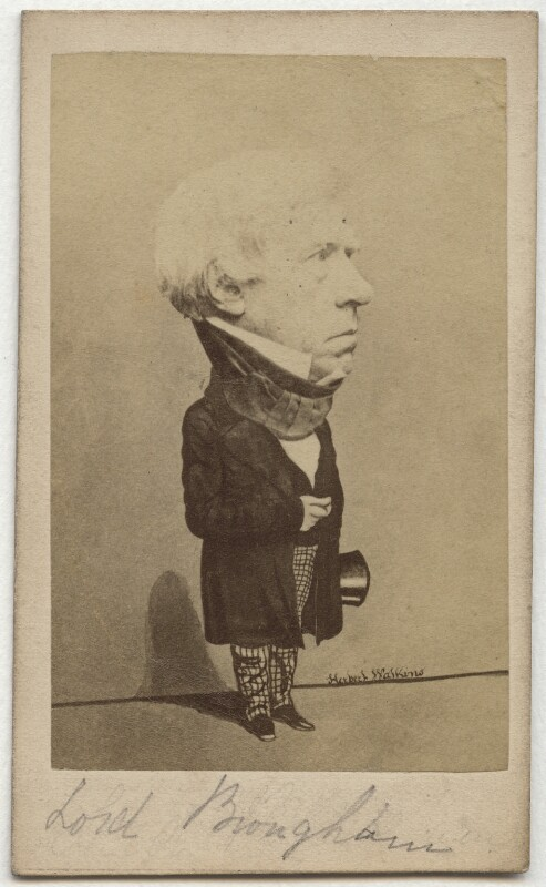 Henry Brougham, 1st Baron Brougham and Vaux, by (George) Herbert Watkins, late 1850s (7 March 1857) - NPG x45589 - © National Portrait Gallery, London