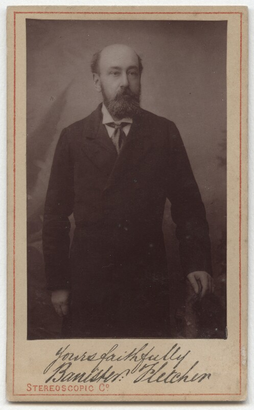 Banister Fletcher, by London Stereoscopic & Photographic Company, 1870s-1880s - NPG x45713 - © National Portrait Gallery, London