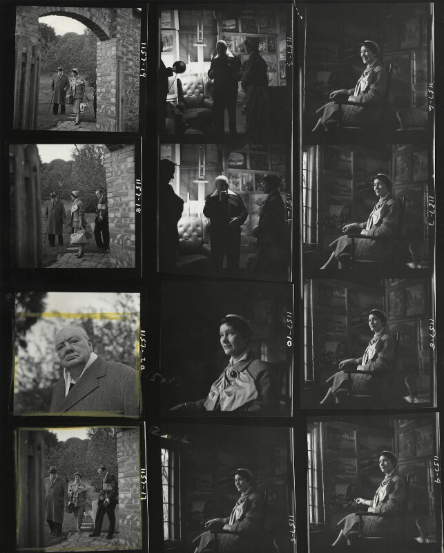 Kathleen Frances ('Katharine') Sutherland (née Barry); Graham Sutherland; Winston Churchill, by Elsbeth R. Juda, October 1954 - NPG x45729 - © National Portrait Gallery, London