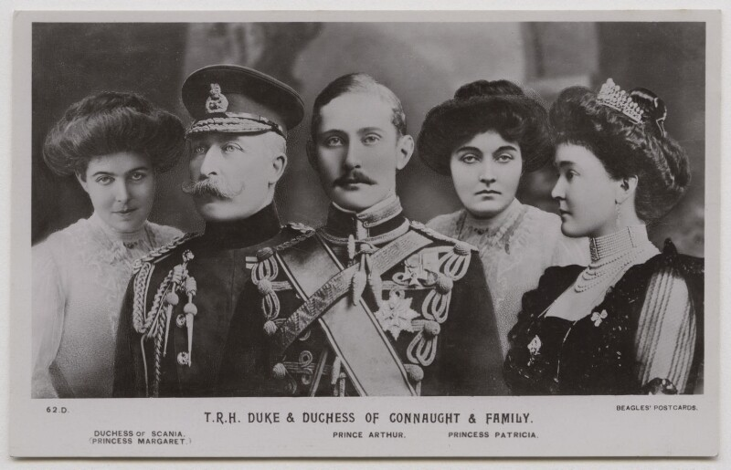 'T.R.H Duke & Duchess of Connaught & Family', published by J. Beagles & Co, after  Lafayette (Lafayette Ltd), and after  Unknown photographers, late 1900s - NPG x45731 - © National Portrait Gallery, London
