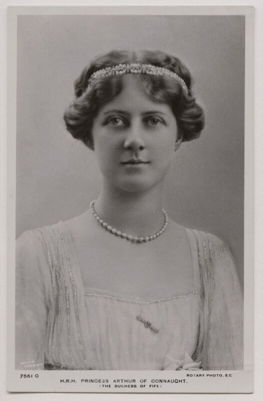 Princess Alexandra, Princess Arthur of Connaught, by Lallie Charles (née Charlotte Elizabeth Martin), published by  Rotary Photographic Co Ltd, early 1910s - NPG x45766 - © National Portrait Gallery, London
