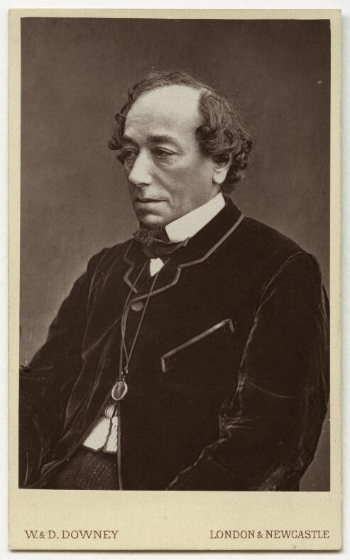Benjamin Disraeli, Earl of Beaconsfield, by W. & D. Downey, 1868 - NPG x659 - © National Portrait Gallery, London
