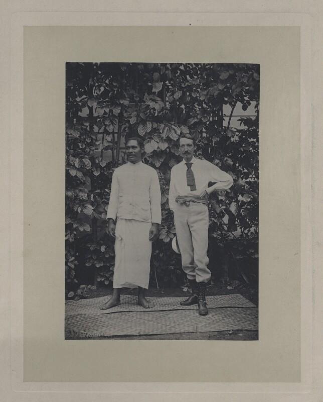 Tuimalealhfano; Robert Louis Stevenson, copy by John Moffat, (29 January 1894) - NPG x4627 - © National Portrait Gallery, London