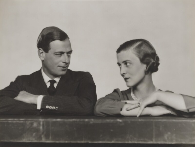 Prince George, Duke of Kent; Princess Marina, Duchess of Kent, by Dorothy Wilding, October 1934 - NPG x46512 - © William Hustler and Georgina Hustler / National Portrait Gallery, London