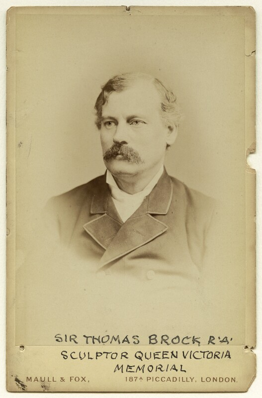 Sir Thomas Brock, by Maull & Fox, before 1889 - NPG x4676 - © National Portrait Gallery, London