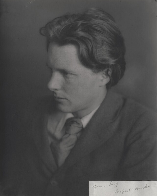 Rupert Brooke, by Unknown photographer, 1913 - NPG x4701 - © National Portrait Gallery, London