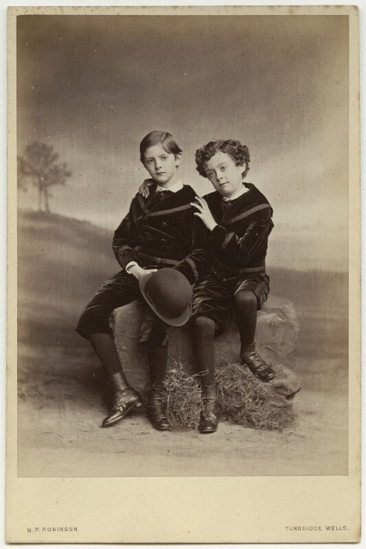 Sir John Hubert Ward; Hon. Robert Arthur Ward, by Henry Peach Robinson, late 1870s - NPG x47103 - © National Portrait Gallery, London