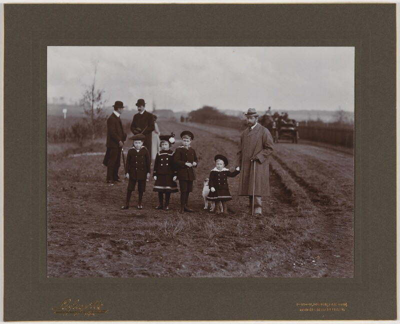 Royal Group including King George V and four of his children, by Lafayette (Lafayette Ltd), 9 November 1902 - NPG x47140 - © National Portrait Gallery, London