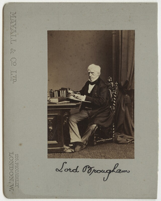 Henry Brougham, 1st Baron Brougham and Vaux, by John Jabez Edwin Mayall, 1863 - NPG x4715 - © National Portrait Gallery, London