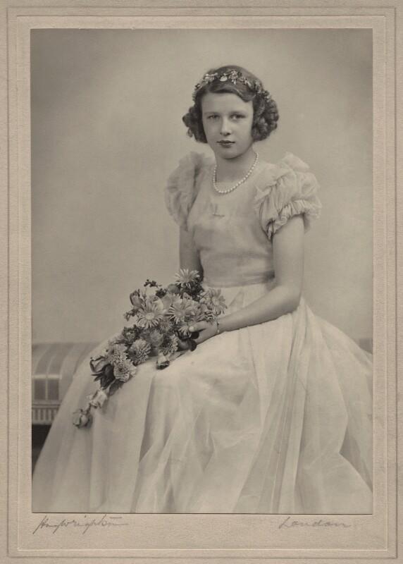 Princess Alexandra, Lady Ogilvy, by Hay Wrightson, November 1947 - NPG x47186 - © National Portrait Gallery, London