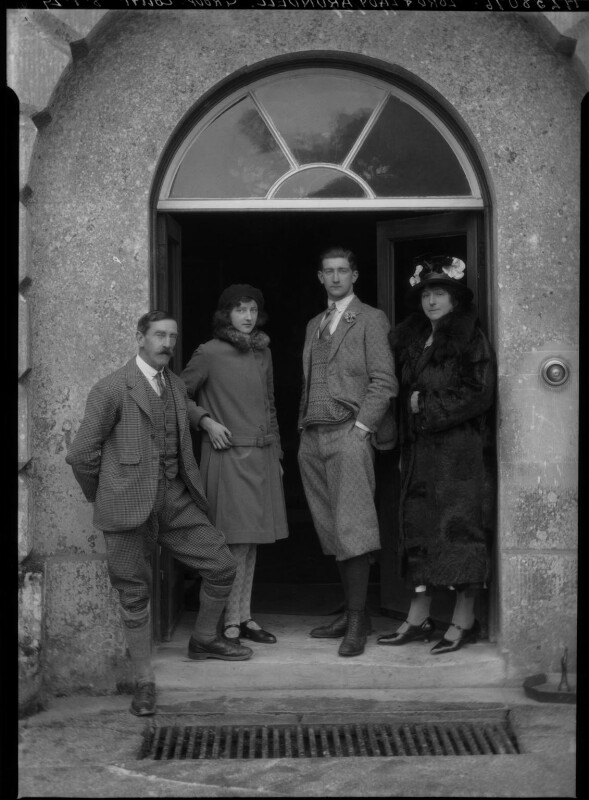 Group photograph taken at the Arundell family home Wardour Castle, Wiltshire,, by Lafayette, 8 January 1929 - NPG x47480 - © National Portrait Gallery, London