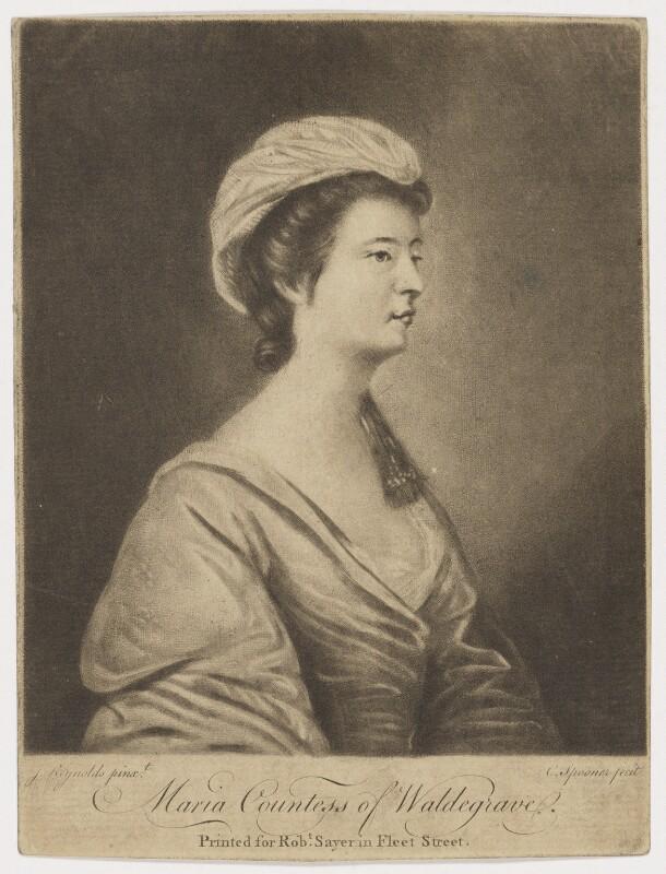 Maria (née Walpole), Duchess of Gloucester and Edinburgh, by Charles Spooner, after  Sir Joshua Reynolds, (1760-1761) - NPG D10801 - © National Portrait Gallery, London