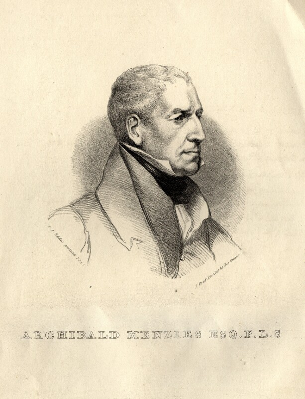 Archibald Menzies, by Hannah Sarah Brightwen (née Turner), after  Eden Upton Eddis, (1835) - NPG D10805 - © National Portrait Gallery, London