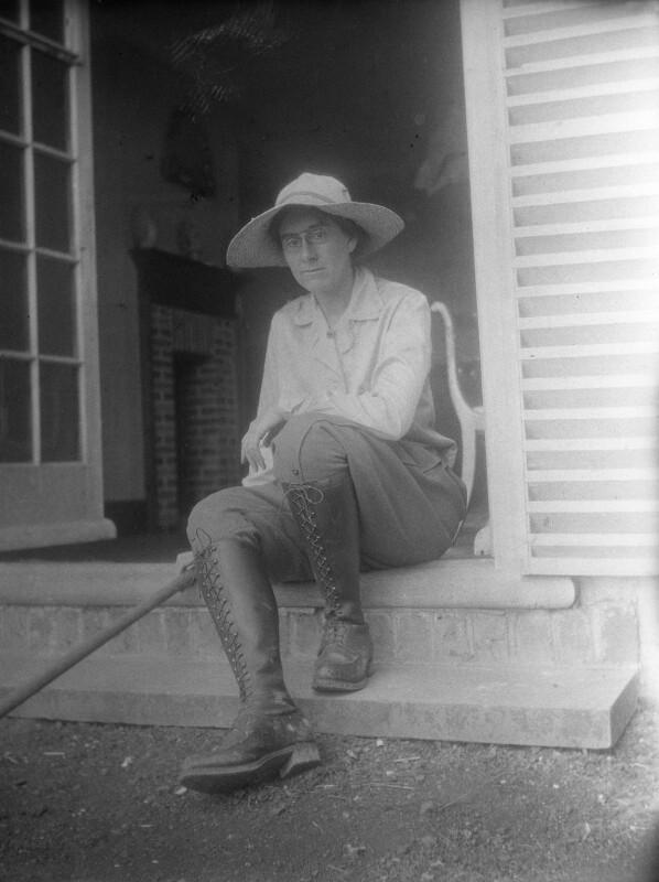 Pippa Strachey, by Rachel Pearsall Conn ('Ray') Strachey (née Costelloe), Summer 1916 - NPG x88556 - © National Portrait Gallery, London
