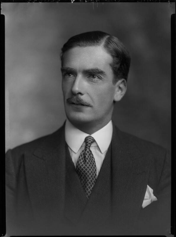 Anthony Eden, 1st Earl of Avon, by Lafayette (Lafayette Ltd), 21 October 1933 - NPG x48542 - © National Portrait Gallery, London