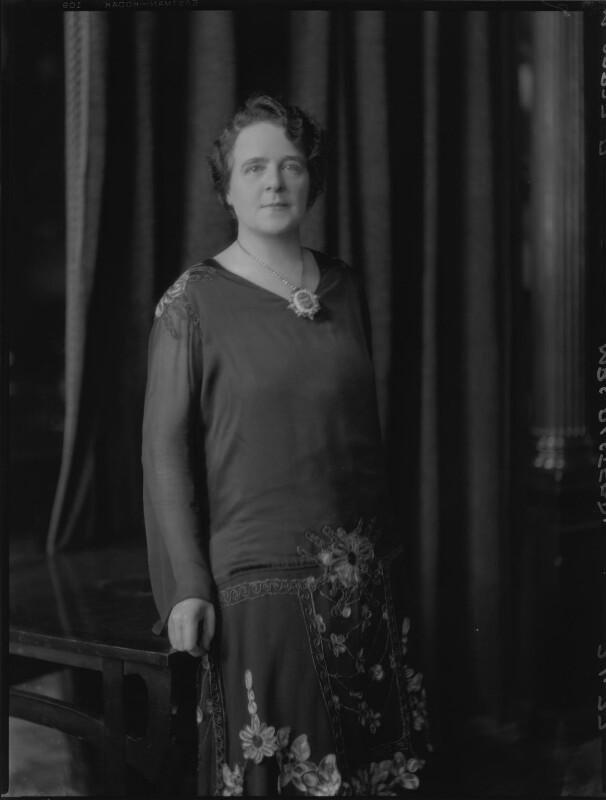 Annie Alstead (née Deakin), by Lafayette, 7 January 1927 - NPG x48894 - © National Portrait Gallery, London
