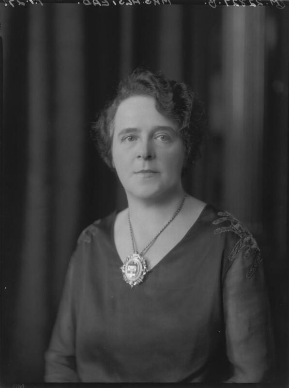 Annie Alstead (née Deakin), by Lafayette, 7 January 1927 - NPG x48895 - © National Portrait Gallery, London