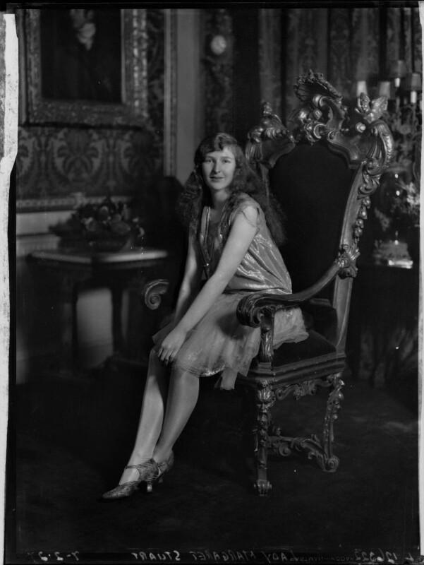 Lady Margaret Frances Anne Vane-Tempest-Stewart, by Lafayette (Lafayette Ltd), 7 February 1927 - NPG x49097 - © National Portrait Gallery, London