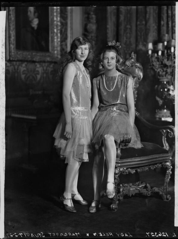 Lady Margaret Frances Anne Vane-Tempest-Stewart; Lady Helen Maglona Walsh (née Vane-Tempest-Stewart), by Lafayette (Lafayette Ltd), 7 February 1927 - NPG x49099 - © National Portrait Gallery, London