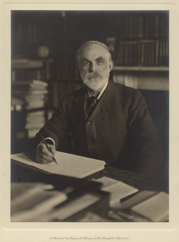 John Elliott Burns, by Reginald Haines, circa 1913 - NPG x4926 - © National Portrait Gallery, London