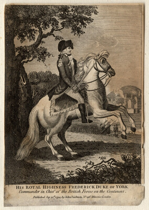Frederick, Duke of York and Albany, by Unknown artist, published 1794 - NPG D10822 - © National Portrait Gallery, London