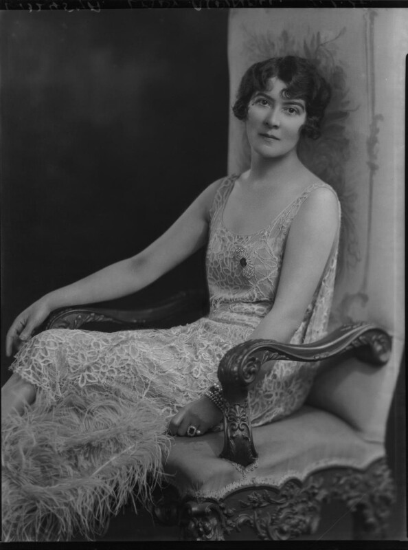 Kathleen (née Mason), Lady Aspinall, by Lafayette, 9 February 1928 - NPG x49560 - © National Portrait Gallery, London