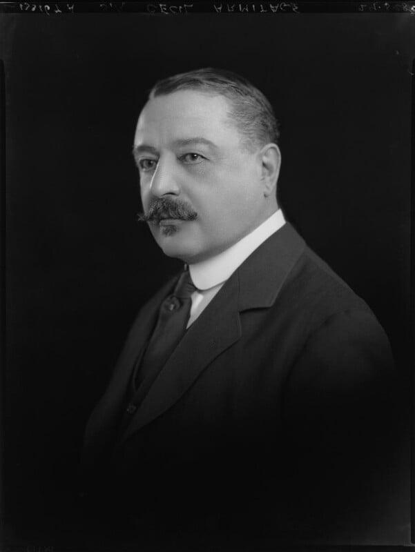 Sir (Stephen) Cecil Armitage, by Lafayette, 29 March 1928 - NPG x49641 - © National Portrait Gallery, London