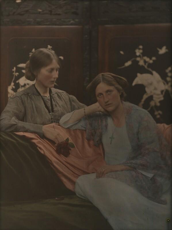 Katharine Legat (née Edis); Emmeline McKendrick (née Edis), by (Mary) Olive Edis (Mrs Galsworthy), 1910s - NPG x38475 - © National Portrait Gallery, London