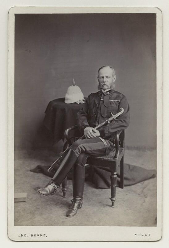 Frederick Sleigh Roberts, 1st Earl Roberts, by John Burke, 1870s - NPG x4980 - © National Portrait Gallery, London
