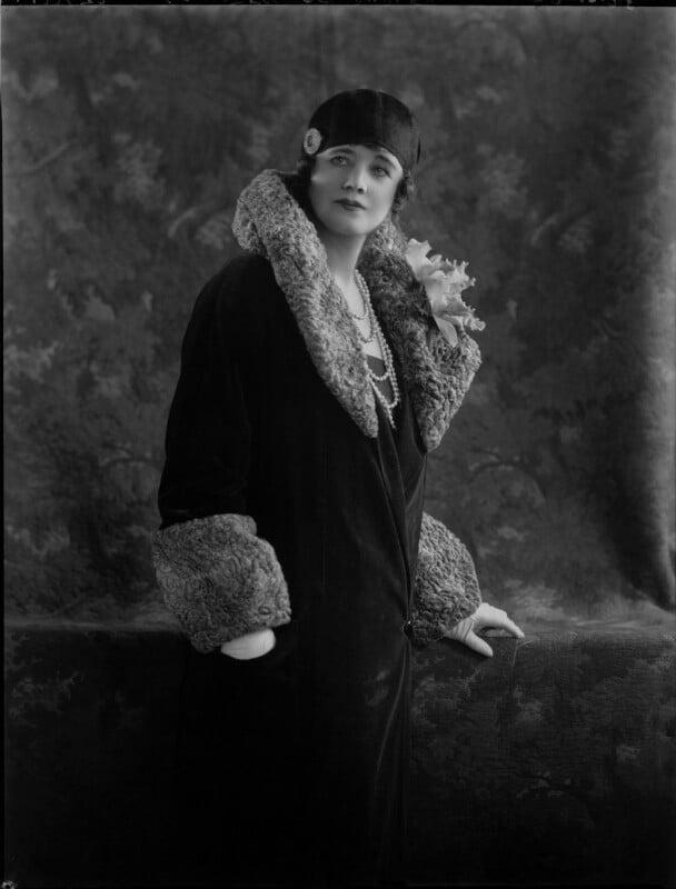 Gertie Millar, by Lafayette, 22 October 1928 - NPG x49876 - © National Portrait Gallery, London