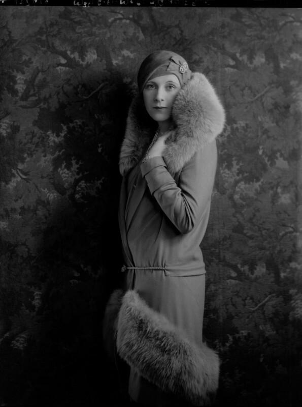 Dame Barbara Hamilton Cartland, by Lafayette, 10 December 1928 - NPG x49978 - © National Portrait Gallery, London