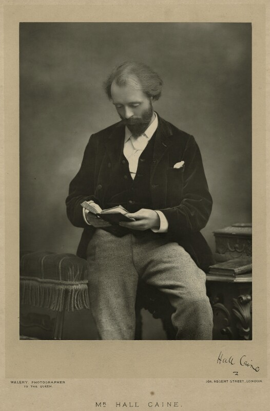 Sir (Thomas Henry) Hall Caine, by Walery, published by  Sampson Low & Co, published December 1890 - NPG x5000 - © National Portrait Gallery, London