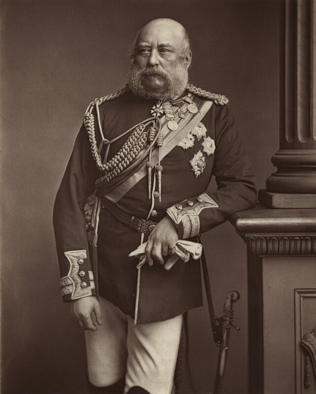 Prince George William Frederick Charles, 2nd Duke of Cambridge, by Unknown photographer, 1890s - NPG x5026 - © National Portrait Gallery, London