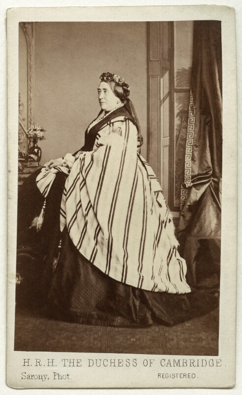 Princess Augusta Wilhelmina Louisa, Duchess of Cambridge, by Oliver François Xavier Sarony, 1864 - NPG x5029 - © National Portrait Gallery, London