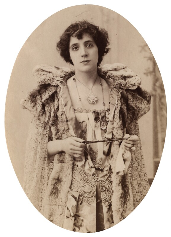 Mrs Patrick Campbell as Magdalene in 'Magda', by Unknown photographer, 1896 - NPG x5041 - © National Portrait Gallery, London
