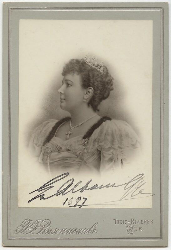 Emma Albani, by P.F. Pinsonneault, circa 1897 - NPG x5152 - © National Portrait Gallery, London