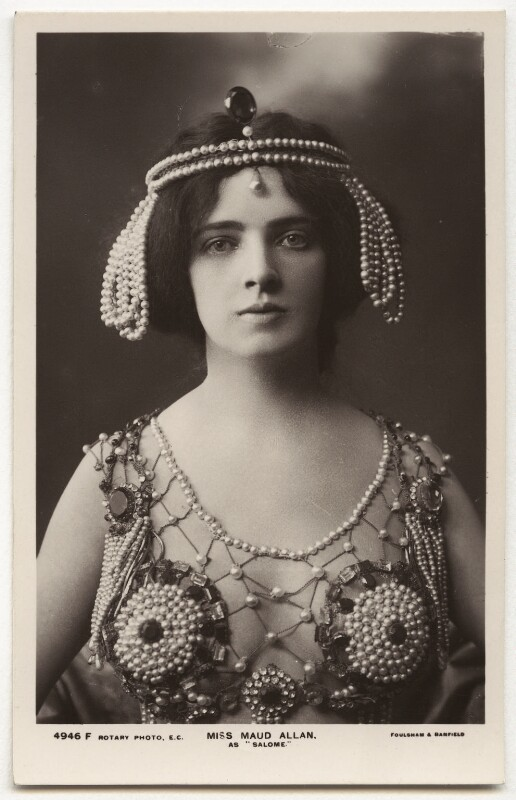 Maud Allan as Salome in 'The Vision of Salome', by Foulsham & Banfield, 1908 - NPG x5154 - © National Portrait Gallery, London