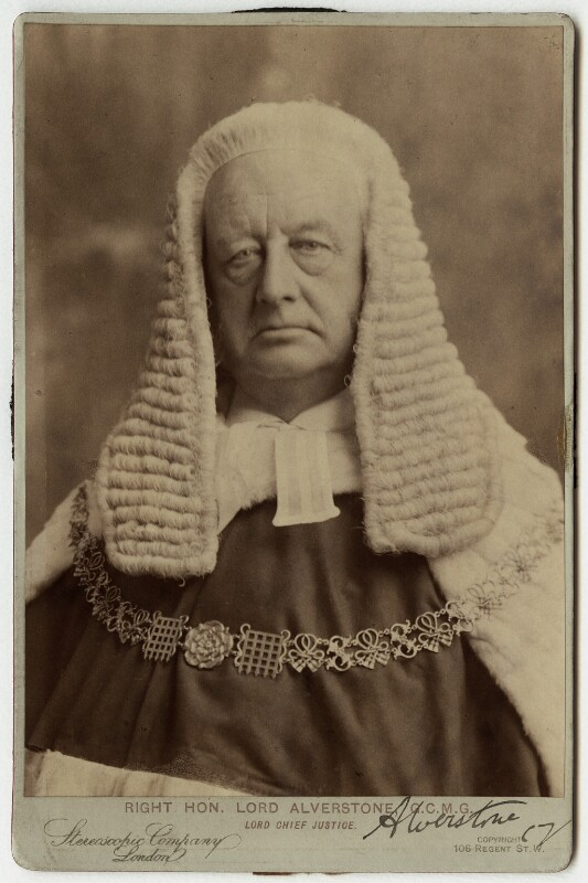 Richard Everard Webster, Viscount Alverstone, by London Stereoscopic & Photographic Company, 1900 - NPG x5156 - © National Portrait Gallery, London