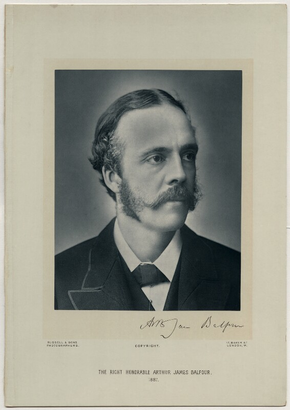 Arthur James Balfour, 1st Earl of Balfour, by James Russell & Sons, 1887 - NPG x5159 - © National Portrait Gallery, London