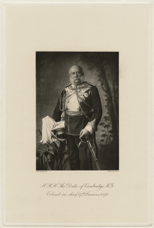 Prince George William Frederick Charles, 2nd Duke of Cambridge, by W. & D. Downey, circa 1876 - NPG x5184 - © National Portrait Gallery, London