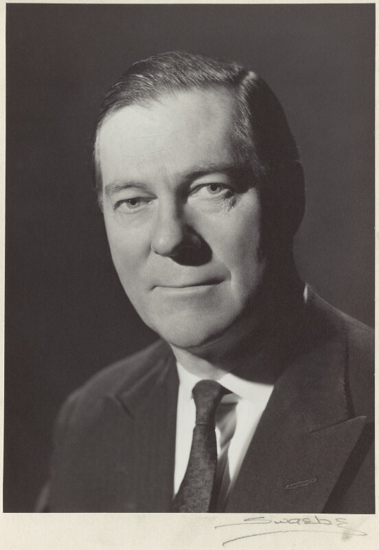 Charles Melville McLaren, 3rd Baron Aberconway, by Albert Victor Swaebe, circa 1969 - NPG x535 - © reserved; collection National Portrait Gallery, London