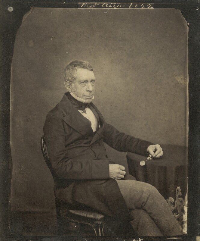 Sir George Biddell Airy, by Maull & Polyblank, mid-late 1850s - NPG x5583 - © National Portrait Gallery, London