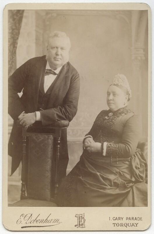Sir James Anderson; Margaret (née Milligan), Lady Anderson, by Edwin Alfred Debenham (later Debenham & Gould), circa 1885 - NPG x56 - © National Portrait Gallery, London